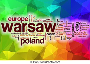word cloud with abstract background