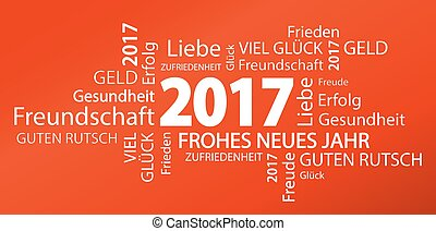word cloud with new year 2017 greetings