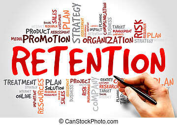 Retention - Word Cloud with Retention related tags