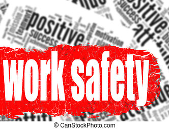 Word cloud work safety