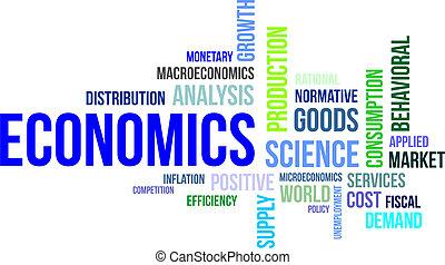 word clouod - economics - A word cloud of economics related...