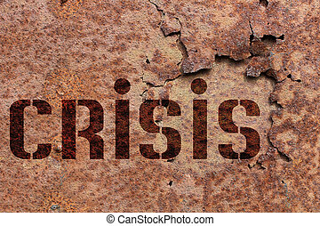 Word crisis on metal