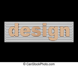 Word design conceptual sign