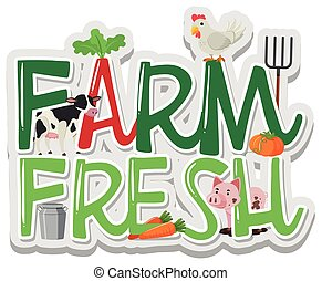 Word design for farm fresh