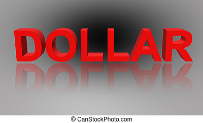 Word dollar red