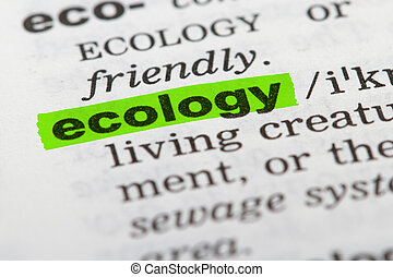 Word Ecology in Dictionary