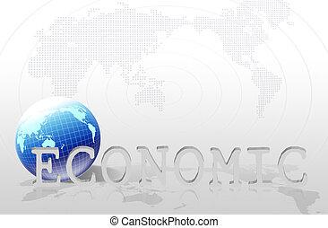 word   economic  - business concept
