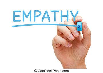Word Empathy Handwritten With Blue Marker