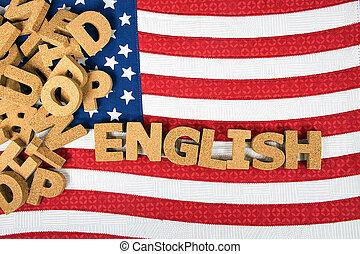 word English on flag