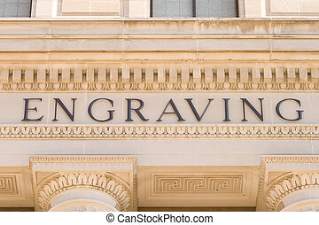 Word Engraving Government Building Washington DC