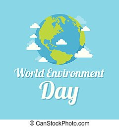 Word environment day background earth