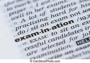 word examination in dictionary