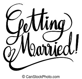 Word expressions for getting married