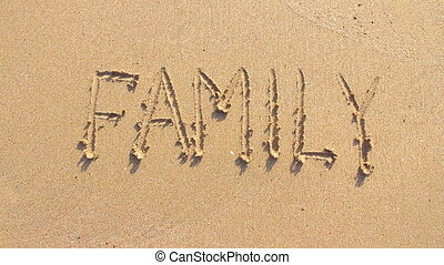 Word family on the sand