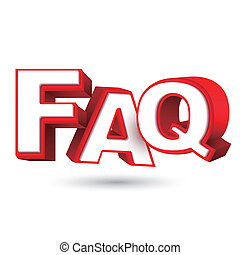 Word FAQ in red letters