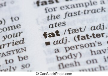 word fat in dictionary