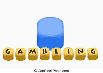 word Gambling on cubes