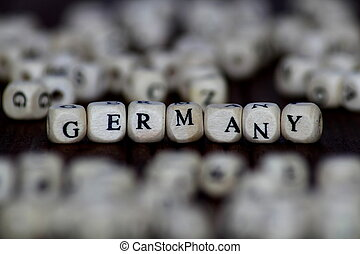 word germany with wooden cubes