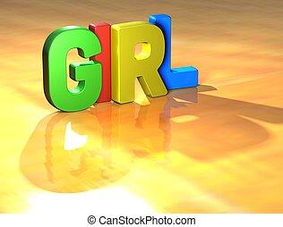 Word Girl on yellow background