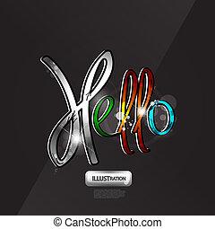 Word hello background