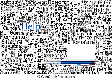 Word help translated into other languages and compiled into...