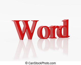 Word - High resolution image symbol. 3d illustration over...