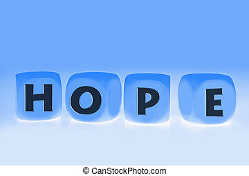 word Hope on cubes