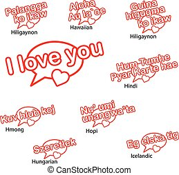 Word i love you in different languages love concept word i love word i love you in different languages love concep thecheapjerseys Choice Image