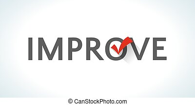 Word improve isolated on white background