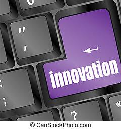 word innovation on computer keyboard key