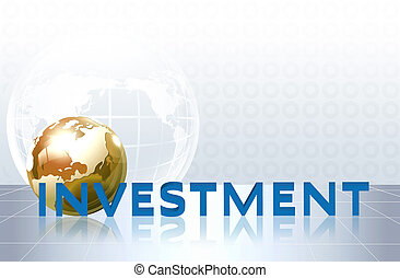word investment - business concept - word investment -...