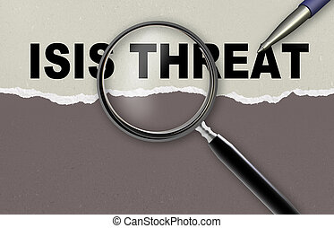 ISIS TREATH - word ISIS TREATH and magnifying glass with...