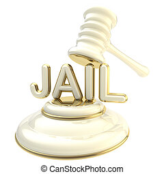"Word ""jail"" under judge's gavel"