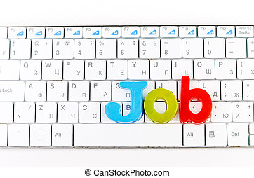 word job on keyboard