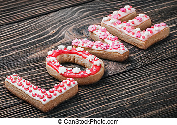 word love of cookies for the holiday