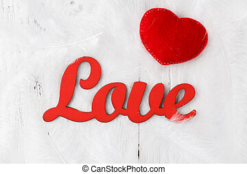 """word """"love"""" on a white background"""