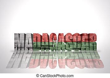 Word Madagascar on the white background
