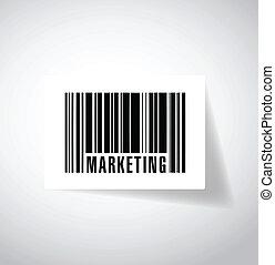 word marketing barcode upc. illustration design
