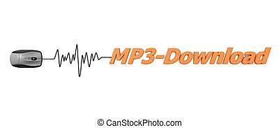 Word MP3 Download with Black Mouse
