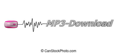 Word MP3 Download with Pink Mouse