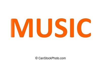 Word Music consists of a set of musical notes. music notes....