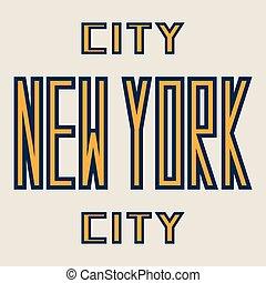 word new york city.