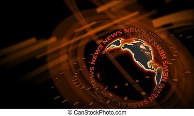 Word News revolving around a spinni
