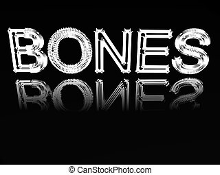 Word Of A Bones. - Word of a bone from a skeleton of steel...