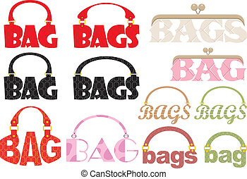 Word of bag in the form of a logoty - Vector illustration,...