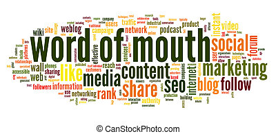 Word of mouth in word tag cloud - Word of mouth in social...