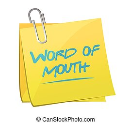 word of mouth memo illustration design