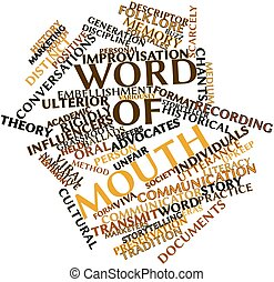 Word of mouth - Abstract word cloud for Word of mouth with...