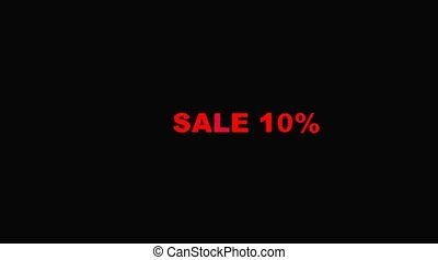Word of the sale on black background