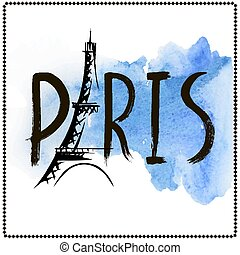 Word Paris, hand drawn